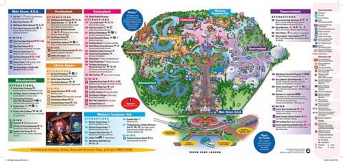 Map of the Magic Kingdom, Walt Disney Wo by danxoneil, on Flickr