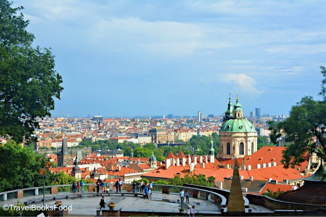 View of the city of Prague from the Prague Castle
